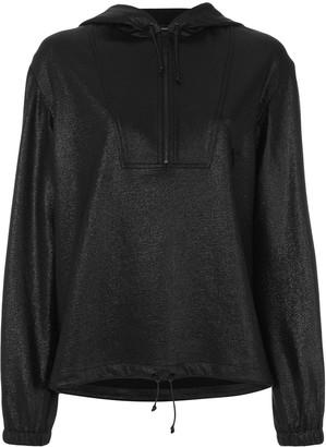 Saint Laurent high shine half zip hoody