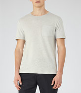 Reiss Bernie Cotton And Linen T-Shirt