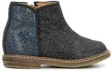 Pom D'Api Glitter Suede Retro Back Boots