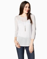 Charming charlie Jersey Tie-Back Top