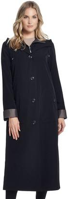 Gallery Women's Hooded Long Rain Jacket