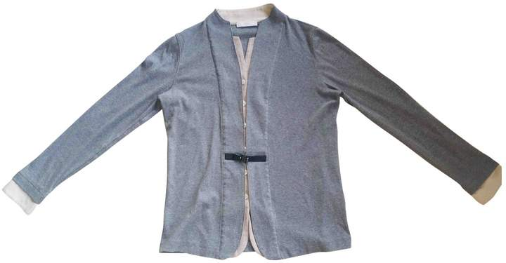Nice Connection Grey Cotton Top for Women