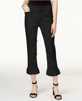 INC International Concepts Petite Ruffle-Hem Cropped Pants, Only at Macy's