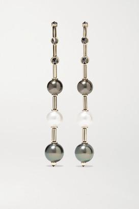 Ara Vartanian - 18-karat White Gold, Pearl And Diamond Earrings - one size