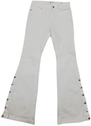 MANGO White Cotton Jeans for Women