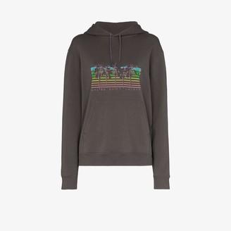Saint Laurent Malibu palm print hoodie