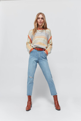 Wrangler Tyler High-Waisted Mom Jean Choir Destruct
