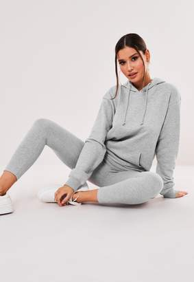 Missguided Grey Hoodie And Leggings Co Ord Set