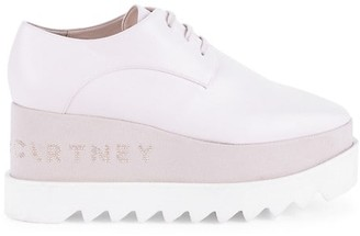 Stella McCartney Sneak-Elyse Embellished Platform Wedge Sneakers
