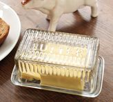 Pottery Barn Glass Butter Dish