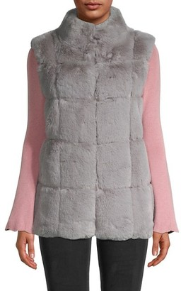 Belle Fare Snap-Front Faux Fur Vest