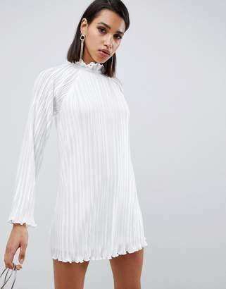 The Jetset Diaries Aster Flared Sleeve Shift Dress-White