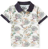 First Wave Little Boys 2T-7 Leaf Printed Polo Shirt