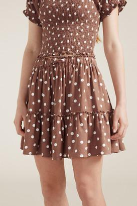 Seed Heritage Linen Tiered Skirt