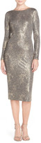 Dress the Population Emery Metallic Sheath Dress