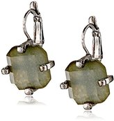 Erickson Beamon Rocks Leverback Grey Drop Earrings
