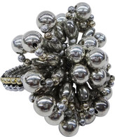 Christmas Shop Décor-Napkin Ring Pearl Silver W/Gold