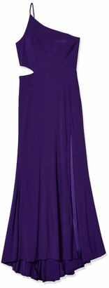 Jump Womens Junior's One Shoulder Gown