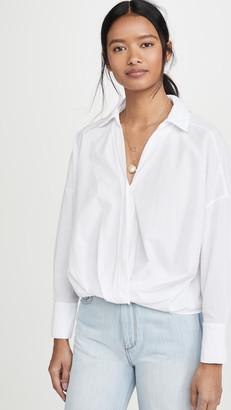 Stateside Poplin Twist Front Shirt