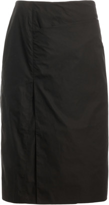Lemaire Pleated Cotton Knee-Length Skirt