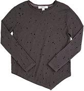 Joah Love Distressed Jersey T-Shirt-GREY