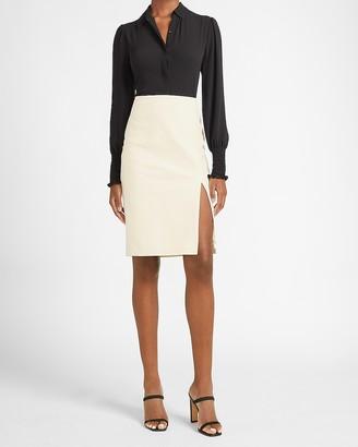 Express High Waisted Side Slit Pencil Skirt