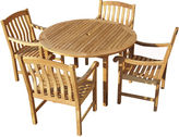Asstd National Brand Fanning 5-pc. Outdoor Teak Dining Set