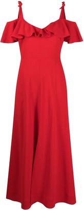 Giambattista Valli Off-Shoulder Ruffled Dress