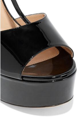 Sergio Rossi Patent-leather Platform Wedge Sandals