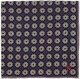 Isaia Men's Reversible Silk Pocket Square-PURPLE, GREY
