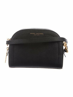 Marc Jacobs Leather Crossbody Bag Black