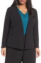 Sejour Plus Size Women's Collarless Blazer