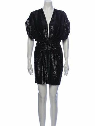 IRO Plunge Neckline Mini Dress w/ Tags Black