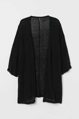 H&M H&M+ Loose-knit Cardigan - Black