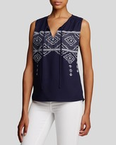 KUT from the Kloth Embroidered Top
