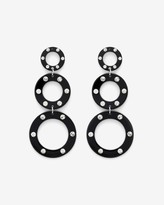 Express Three Tier Graduated Rhinestone Circle Drop Earrings
