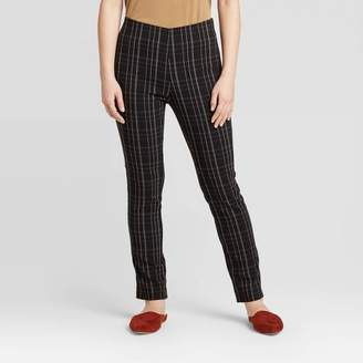 A New Day Women's Plaid High-Rise Skinny Ankle Length Pants