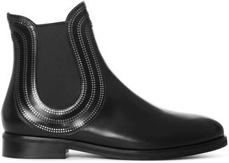 Alaia Black leather chelsea boots