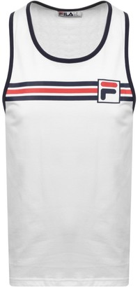 Fila Vintage Quillan Logo Vest T Shirt White