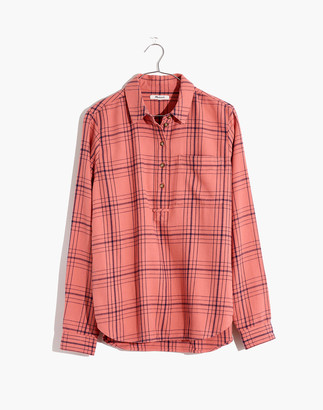 Madewell Flannel Popover Shirt in Colcord Plaid