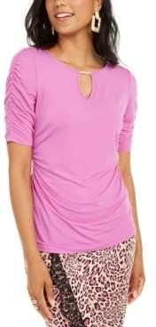 Thalia Sodi Elbow Sleeve Keyhole Top