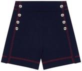 Maje Isla High-Waist Knit Cotton Shorts