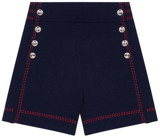 Maje Isla High-Waist Knit Cotton Shorts