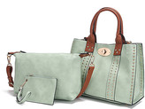 Mkf Collection By Mia K. MKF Collection by Mia K. Women's Clutches Mint - Brown Elissa Tote & Convertible Clutch