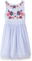 Speechless Embroidered Mesh Dress, Big Girls (7-16)