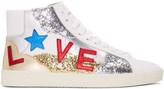 Saint Laurent White love Sl-06m Court Classic High-top Sneakers