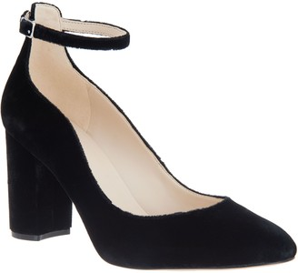 Marc Fisher Block Heel Pumps with Ankle Strap - Imagie2
