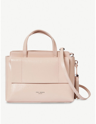 Ted Baker Lonyn patent-leather tote bag
