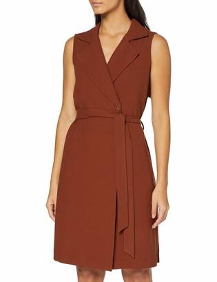 Yargıcı Yargc Womens 9YKEL7133X V-Neck Sleeveless Dress - Red - 12