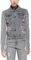 Desigual Women's Chaq_exotic Silver Jeans Jacket